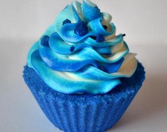 Blueberries and Cream Cupcake Bath Bomb
