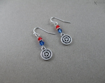 Captain America - Winter Soldier - Reversible Charm Earrings - Steve Rogers - Bucky Barnes