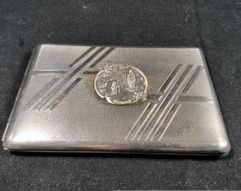 cigarette case/vintage cigarette case/religious cigarette case/vintage card/vintage cigarette case/cigarette dispenser