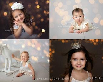Christmas Gold Bokeh Overlays, Photoshop Overlays, Photo Overlays, Holiday Overlays for Photographers, Real Bokeh Lights Overlays
