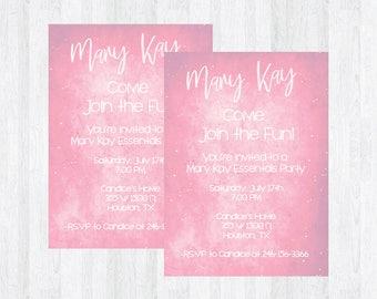 Mary kay invitation Etsy