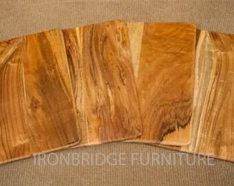 1x Solid Acacia Wood Board Placemat Chopping Board Food Tray Server 24cm x 35cm x 0.75cm ACA-PMATS