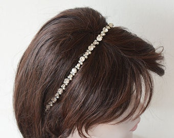 Wedding Headpiece, Bridal Headband ,  Pearl Bridal Headpiece, Hair Accessories, wedding hair jewelry, Hair Accessories