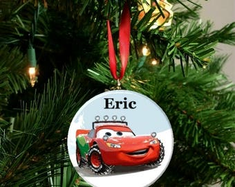 Personalize Option Disney Cars Lightning McQueen  Ornament