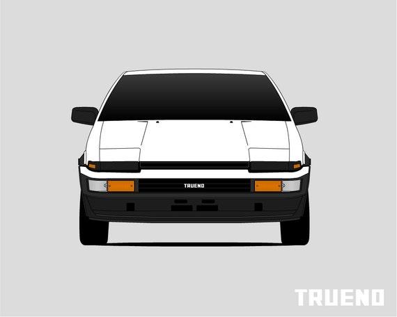 Toyota AE86 Poster // Trueno // Corolla // Sprinter // Levin
