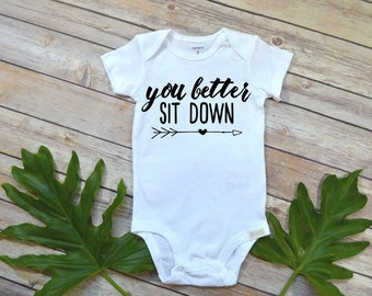 Pregnancy Announcement, You Better Sit Down, Pregnancy Reveal, Expecting Baby Shirt, Baby Announcement, Baby Reveal, New Grandparents, Baby