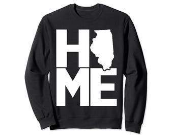 PREMIUM Illinois Home T-shirt I Love Illinois State Tee