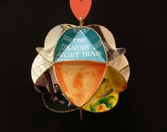 Steve Winwood Album Cover Ornament Made From Record Jackets - Traffic Band