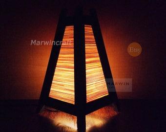 Asian Oriental Bamboo Japanese Lamp Zen Bedside Lamp Floor Table Lamp Paper Japanese Light Lamp Shades Bedroom Home Decor Living Room