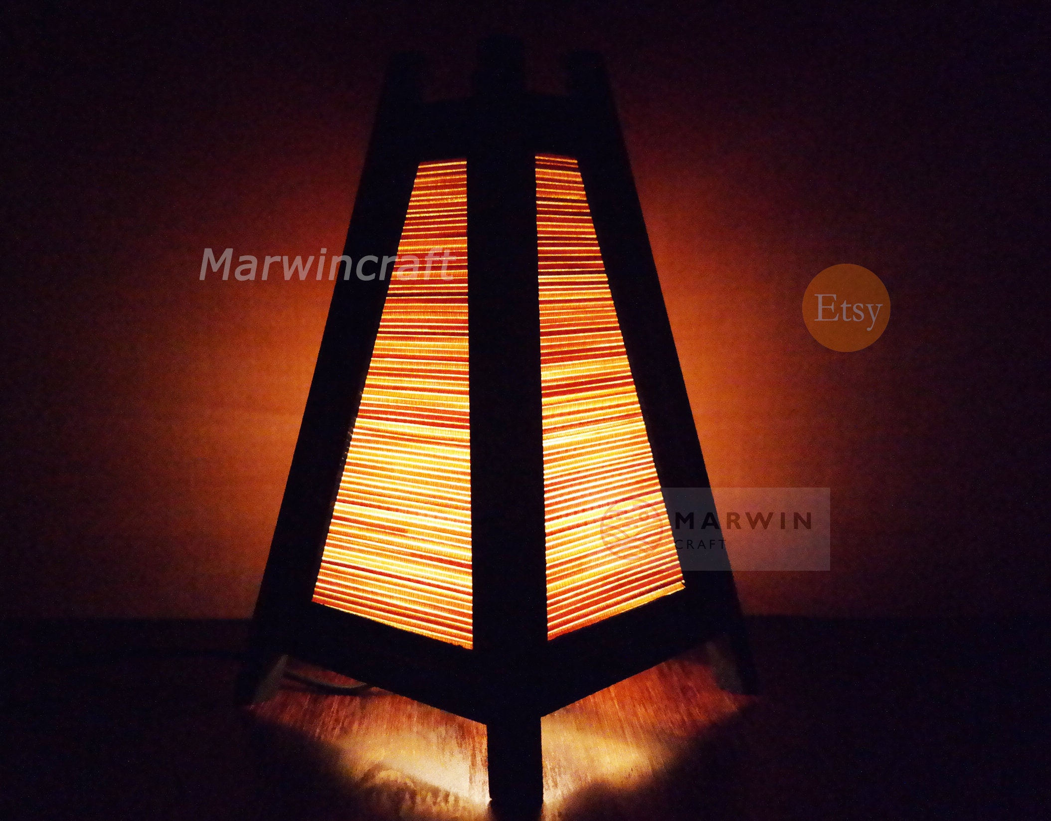 Asian Oriental Bamboo Japanese Lamp Zen Bedside Lamp Floor