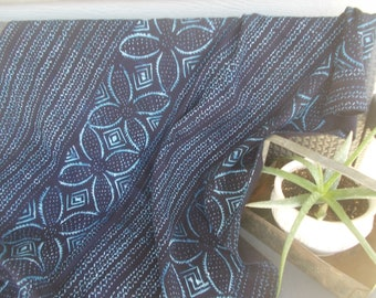 Authentic African mud cloth indigo with nice details