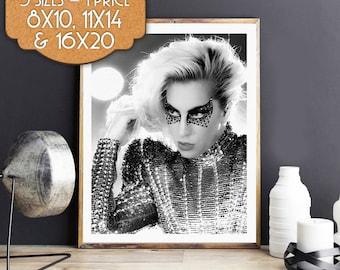 Lady Gaga, Lady Gaga Poster Print, Wall Art, Printable Art, Digital Download Art