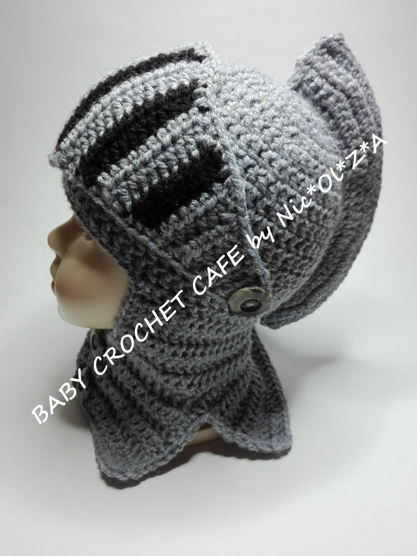 Crochet Knight Helmet Hat Pattern Free   BCCA