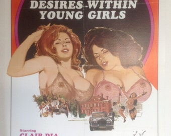 Desires Within Young Girls Adult Movie Poster, Signed by Georgina Spelvin