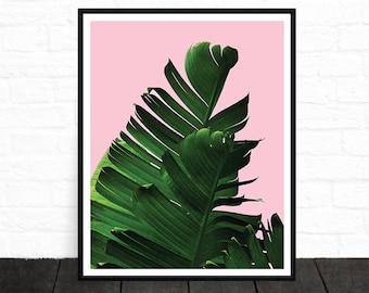 Banana Leaf, Banana Leaf Print, Botanical Print, Tropical Print, Plant Print, Palm Tree Print, Affiche Scandinave, Palm Print, Printable Art