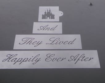 And they lived happily ever after, Cake Stencils