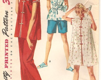 Simplicity 4971 50s Mandarin Style PJ Tunic and Pants Size 12