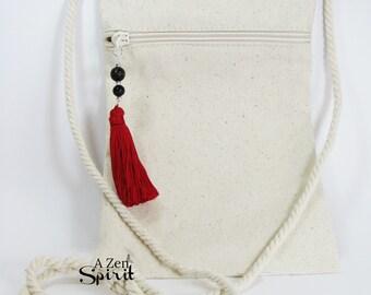 Zip devant Mala sac, sac de Tarot, pochette de rangement, sac de Rune, Zip devant, sac à main, Dharma sac, sac Boho, sac de médecine