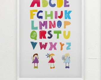 ABC Poster for Girls