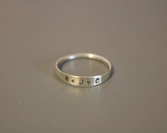 Customizable Letter/Name Stamped Stacking Rings