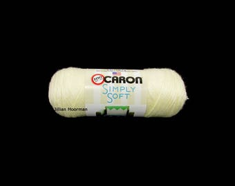 Caron Simply Soft Yarn, Off White, 6oz
