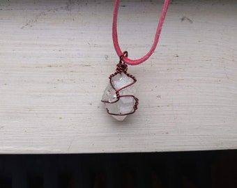 Quartz with red wire