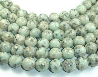 Sesame Jasper Beads, Kiwi Jasper, 12mm, 15.5 Inch, Full strand, Approx 33 beads, Hole 1.2 mm (402054004)