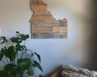 Idaho State Sign | Reclaimed Wood | Pallet Sign | Home Decor | Wall Art | Rustic Decor | Barn wood |