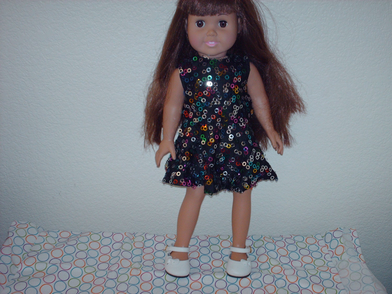One of a kind party dress for American Girl.