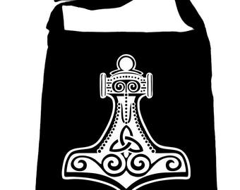 Mjolnir Thor Hammer Cross Body Sling Bag Norse Viking God - SB-DYS067