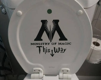 Harry Potter Ministry of Magic toilet decal