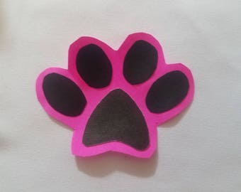 Various Colored Paw Prints with Background