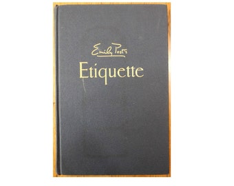 Emily Post's Etiquette The Blue Book of Social Usage Vintage Copyright 1960 Hardcover