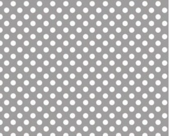 Small Dots Gray - Half Yard Cut -  Riley Blake Designs - Gray Dots - Cotton Fabric - Gray Fabric