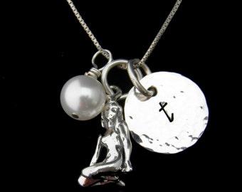 Personnalisé du zodiaque signe, bijoux du zodiaque, Virgo collier avec initiale