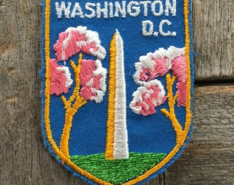 Washington Monument Washington DC Vintage Souvenir Travel Patch from Voyager
