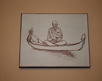 Gandhi on a gondola