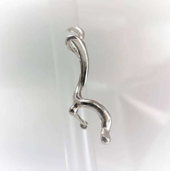 single earring, sterling silver | large sculptural earring | unique mono earring
