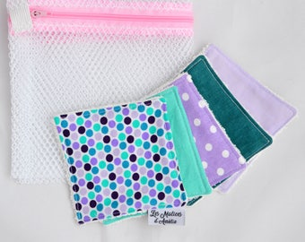 Cleansing wipes washable super soft + laundry NET
