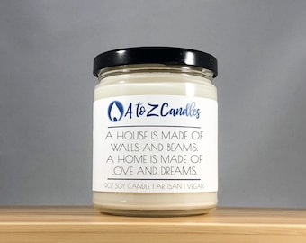 PERSONALIZED HOUSEWARMING GIFT Closing Gifts for Buyers Realtor Closing Gift New Home Gift Congratulations Housewarming Candle First Home