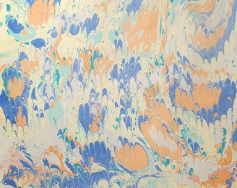 Marble Paper 2015-2 for bookbinding or scrapbookingprojects on 50x70cm chamoise construction paper 130g / sqm