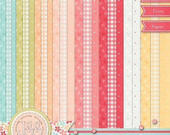 On Sale 50% Off Tea For Two Extra Papers Pack Digital Scrapbook Kit - Digital Scrapbooking