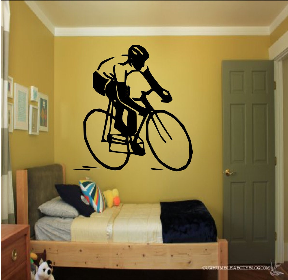 Cyclist Wall Decal sports decal tour de france bicycle