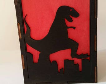 Giant Monster Rampage Flameless Candle Holder