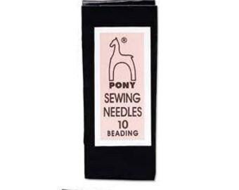Pony Beading Needles Pack Of 25 Sizes 10  Jewellery Making