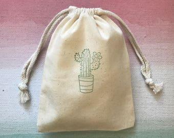 10 Cactus Favor Bag - Cactus Party Favors  - Tribal Favor Bags - Desert Favor Bags - Rustic Wedding Favor Bags - Boho Favor Bags -Succulents