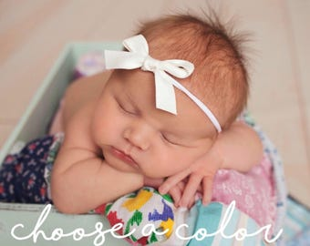 Schoolgirl Bows, Sailor Bow, Classic Bow, Baby Girl Headband, Newborn Bows, Girls Hair Bows, Baby Headbands, Newborn Girl Bows, Mini Bow