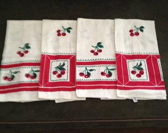 4 Vintage Kitchen Towels by Startex