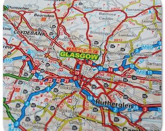 Glasgow Map Coasters
