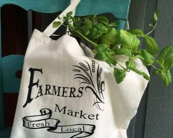 Linen Farmers Market Tote